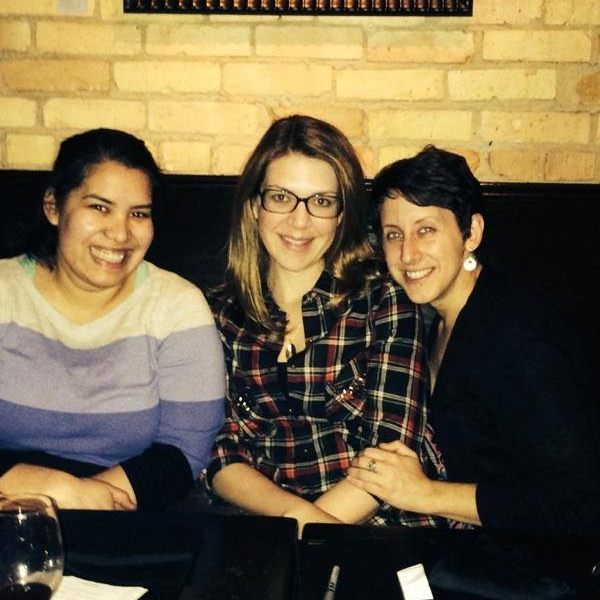 Zarina, far right, catching up with two friends while visiting Minneapolis, where she lived before moving to San Francisco.