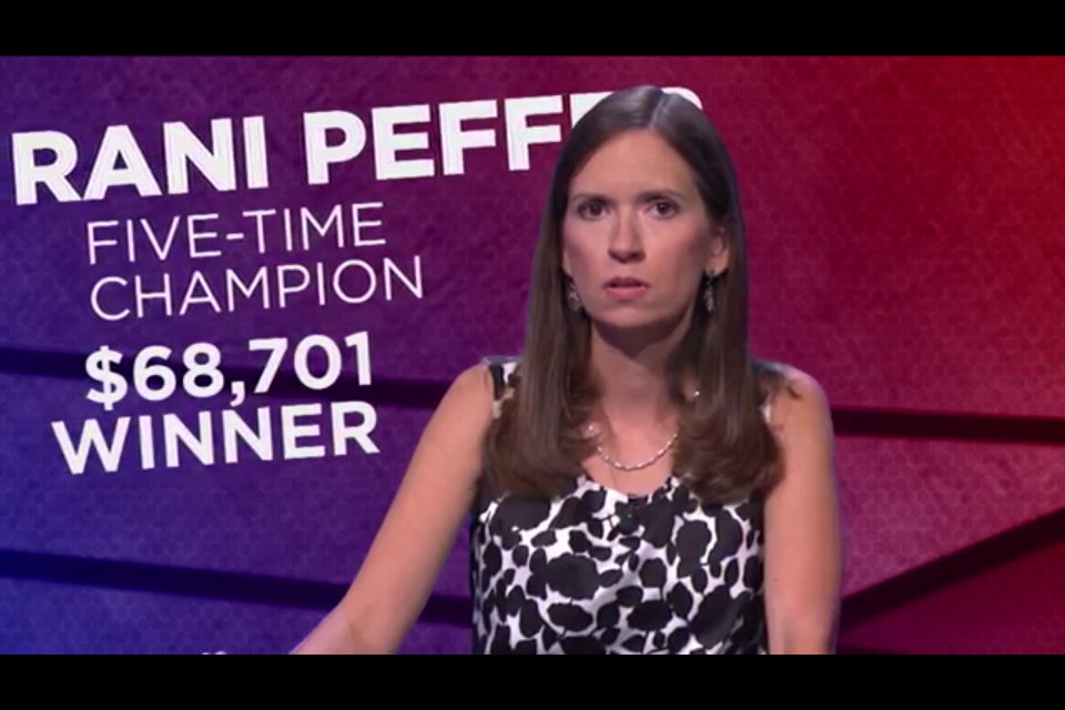 One of Rani Peffer's many talents is being a total boss on Jeopardy!