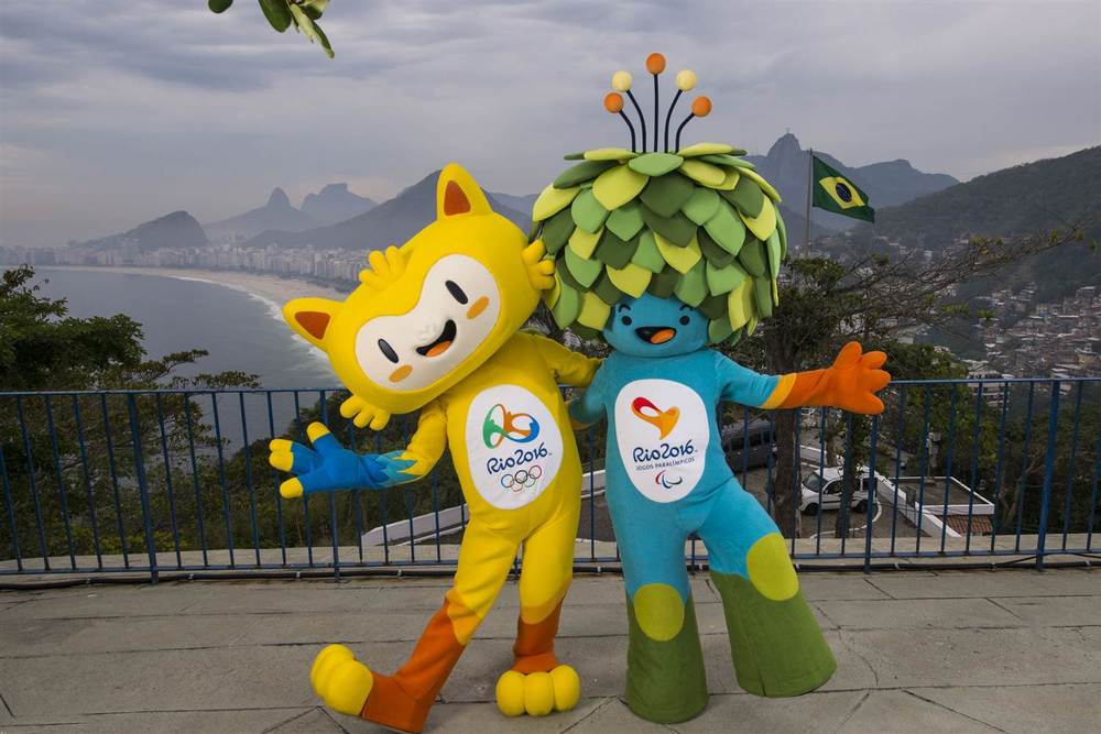 Rio 2016 Olympic mascot Vinicius, left, and Rio 2016 Paralympic mascot Tom.   Alex Ferro / Brazilian Olympic Committee via Reuters