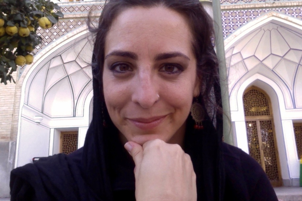 Monica loves to travel, and often travels alone. Here she is in Iran in 2014