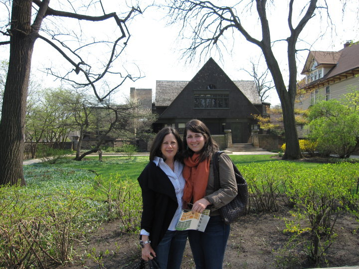 Beth and her mom outside Frank Lloyd Wright's studio. Beth's mom spent many years as a political fundraiser and instilled the importance of political engagement in Beth.
