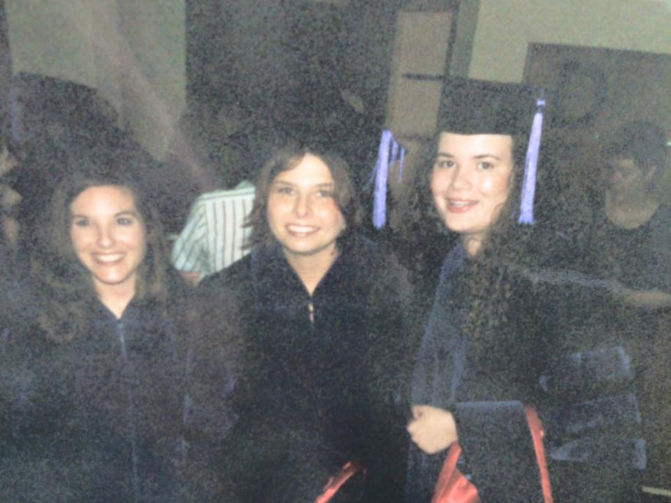Amanda (right) at her law school graduation from the University of Mississippi.