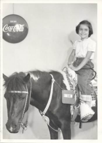 Cynthia as a girl in the 1950s.