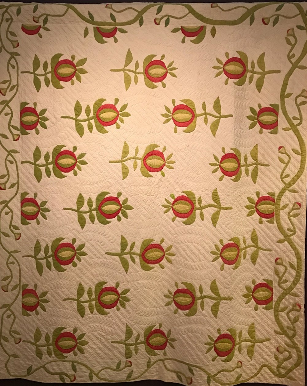 Pomegranate Quilt ca 1876