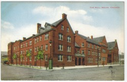 A vintage postcard of Hull House