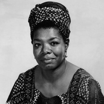 Poet and writer Maya Angelou
