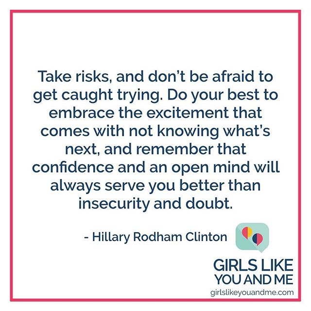 """Don't be afraid to get caught trying."" @hillaryclinton's advice to her younger self from the latest issue of @teenvogue, which she's guest editing.  #getcaughttrying #teenvogue #advice #lifeadvice #lettertomyself  #hillaryclinton #confidence #openmind"