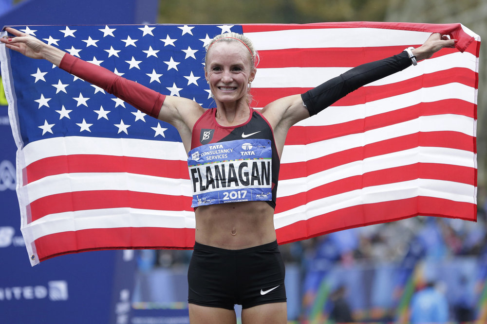 Shalene Flanagan after she won the New York Marathon last Sunday!