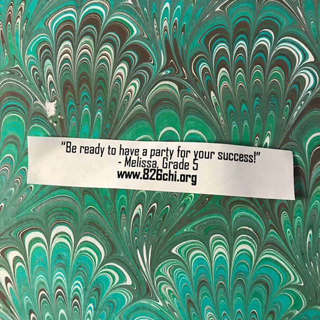 Opened a fortune cookie for a new year's prediction (is this a thing? I don't think so), and couldn't love this message from @826chi more. 🔮🗓❤️ #latergram #826chi #newyears #2018 #newyearnewchapter