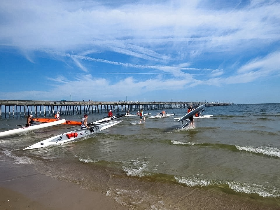 The boats head out in last year's offshore race.