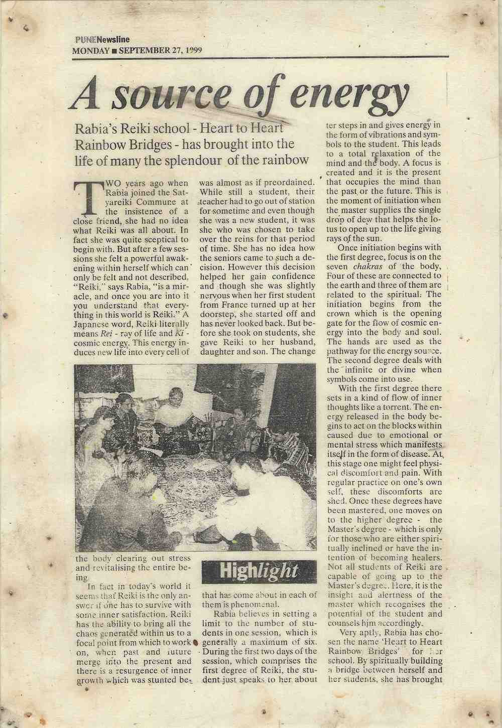 PUNE NEWSLINE / INDIAN EXPRESS (1999)