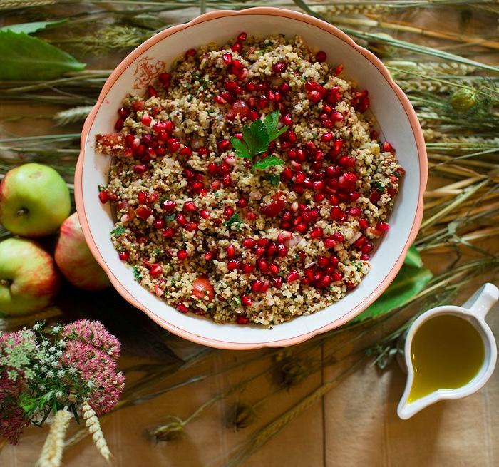 Pomegranate and Tomato Tabbuleh. Photo: Catherine Frawley