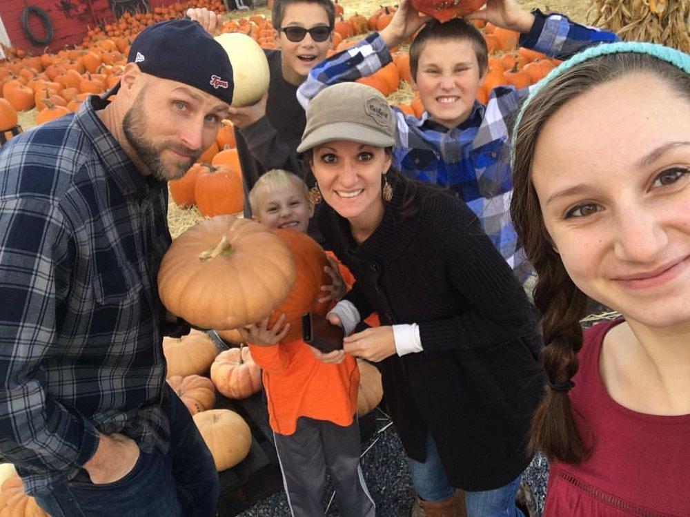 Steve, Karen, Grace, Luke, John, and Ethan