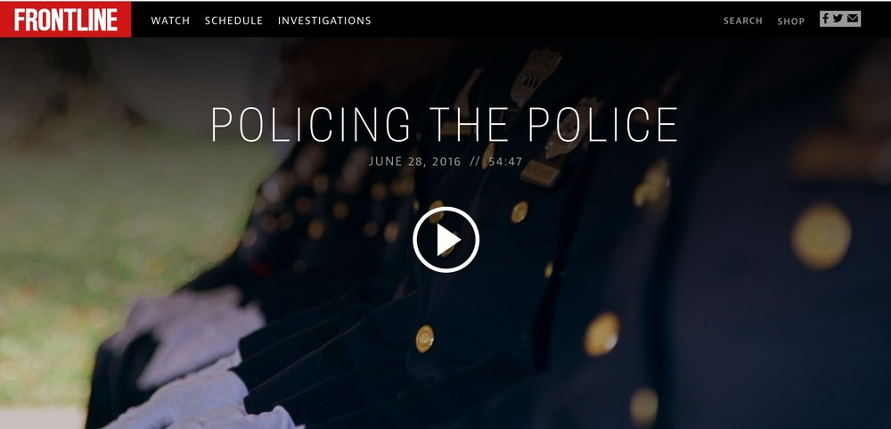 For a great overview of some of the extreme challenges of modern policing, see  this excellent documentary from Frontline .