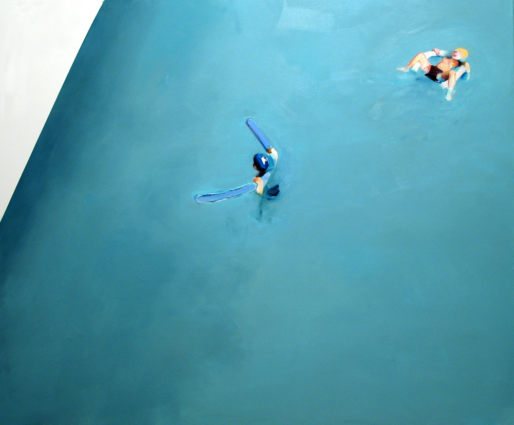 Untitled (swimming pool / basen), oil on canvas, 100 x 120 cm, 2010