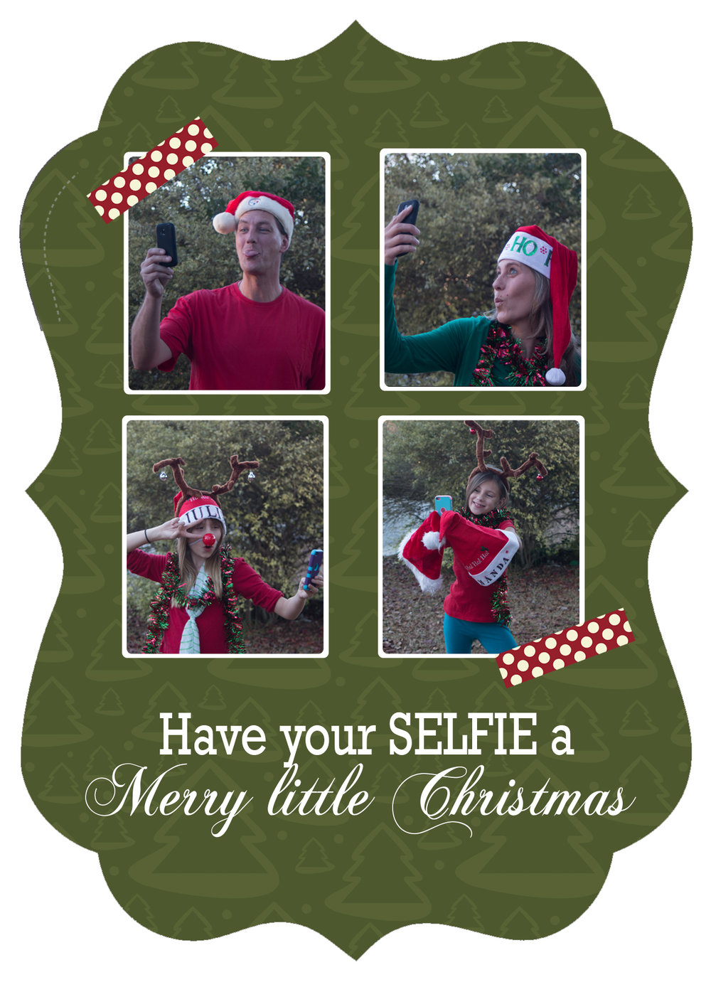 selfies christmas card