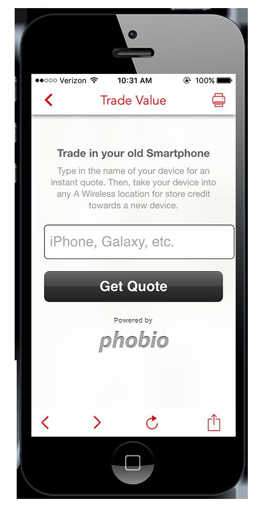 Mobile App Trade In