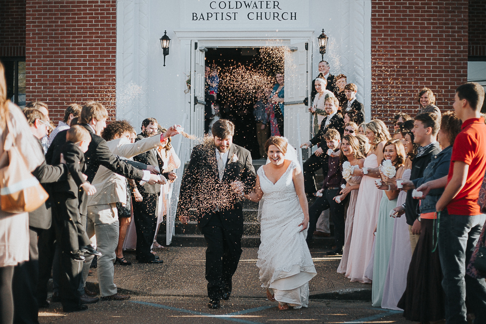 bride-groom-exit-birdseed