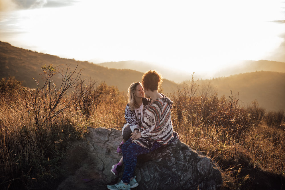 cassie-cook-photography-black-balsam-knob-sunrise-hike-same-sex-engagement-session-asheville-wedding-photographer