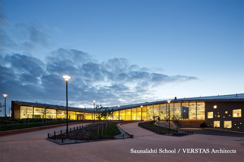 Beautiful, inviting, accessible school facilities are an asset to the entire community. Saunalahti school in Finland houses a day care centre, preschool, youth house offering leisure activities and a combined school/community library. The building is used on evenings and weekends by local clubs and community groups. Local residents actively use the school's gymnastics facility, sport fields and play grounds. The building, with its versatile array of services, is a meeting place for families in the area.  (Photo: Andreas Meichsner)