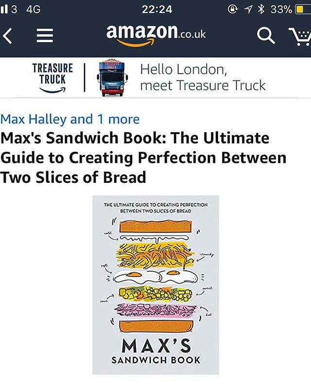 We went and wrote a book. @lunchluncheon is a genius. I know my way around a measuring spoon and a set of scales. Together we have written a book about sandwiches. It is available for pre-order on Amazon now. Which is exciting. Link in bio.