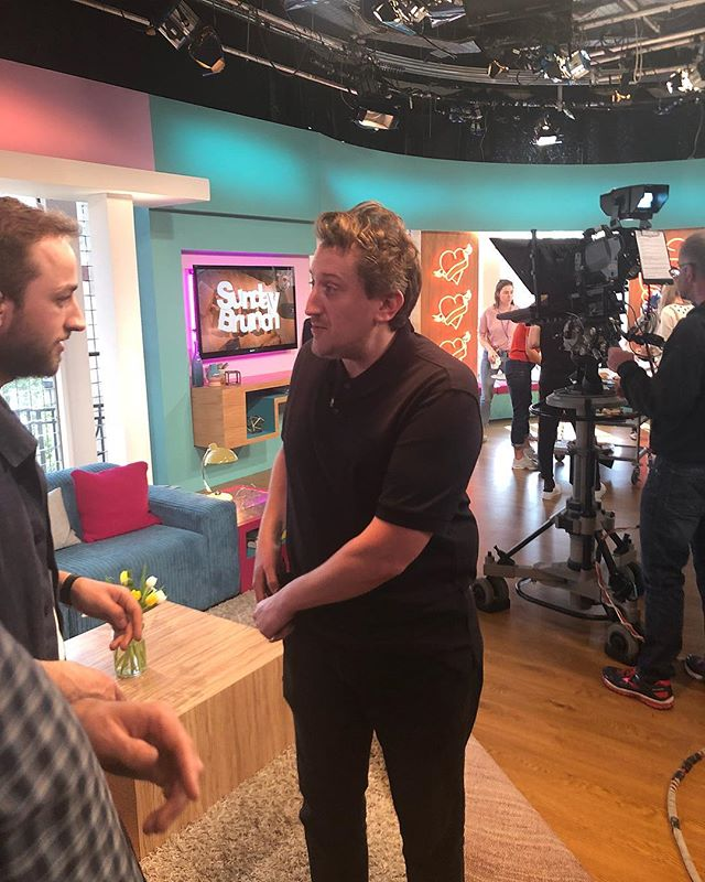 """""""Satan of the food world."""" """"The most dangerous man in food."""" @lunchluncheon moments before he dazzled on @sundaybrunchc4"""