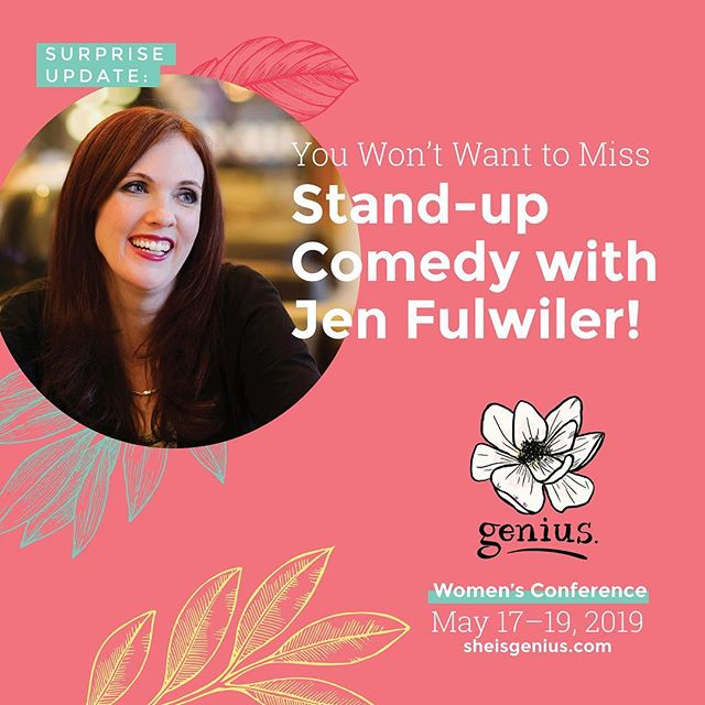 Whaaaaaat???! 😱🤩 Yes. Jen Fulwiler is going to gift us attendees with her stand-up. Don't miss out! It's still early bird registration. See the url on the graphic, m'ladies.