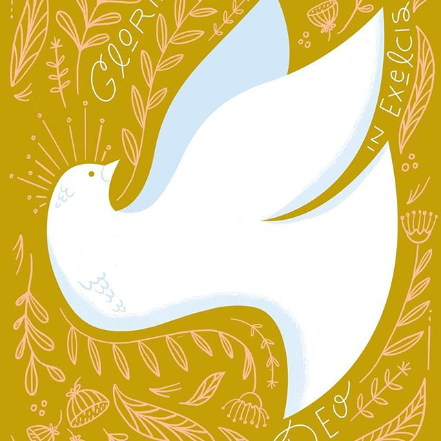Happy Easter! So why are you posting a Dove, you ask? Just anticipating Pentecost, or did I not have a real Easter illustration and have been too busy shuttling my children everywhere? Yes. Yes to both.  Easter blessings nevertheless, friends. Christ is Risen! Let us rejoice 🎉