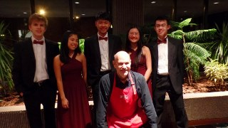 PYSO Donor Event at Trimont - Saturday, November 11, 2017Featuring:  PYSO's award-winning Amadeus Quintet - Chris, Minori, Yosen, Ariana, and William - seen here with PYSO Executive Director, and private chef for this fun evening, Craig Johnson.
