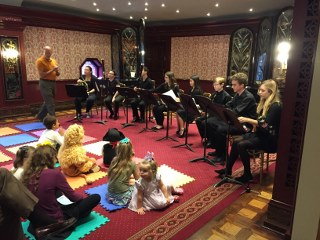 PSO Fiddlesticks Pre-Concert Activity - Saturday, October 21, 2017Featuring: PYSO, TRYPO, and YC2 wind players Maya, Ellie, Josh, Kayla, Ami, Grant, Matt, and Kirsten. The students played spooky favorites for this Halloween-themed event.