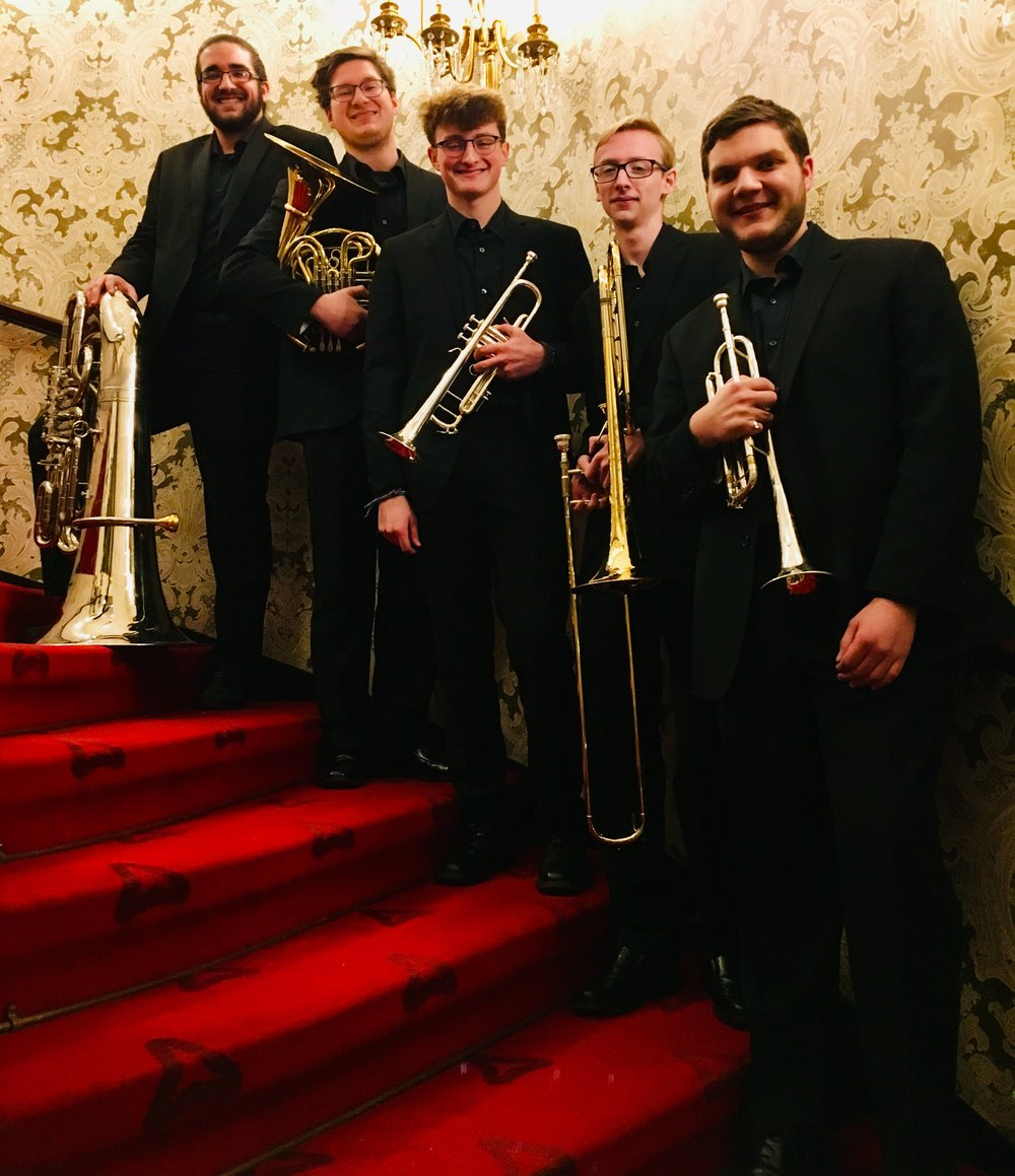 Speaker Series with Gov. Jeb Bush - Wednesday, January 30, 2019BRAVO to the Monaloh Brass, Aiden, Noah, Connor, Lukas, and Joel, who performed for the sold-out crowd at tonight's RMU/UPMC Speaker Series at Heinz Hall. Monaloh Brass studied chamber music this year with Robert Lauver, PSO Horn.