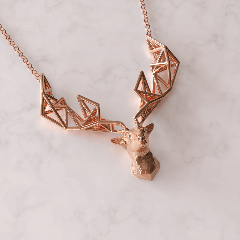 Rose Gold Stags Head Twenty Third C