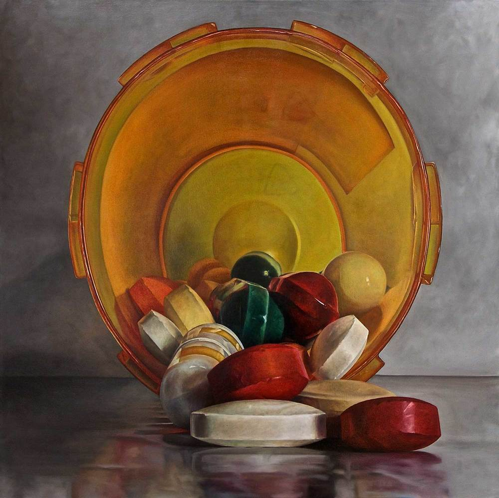 Pharmacide, 2015 Oil on canvas 50 x 50""