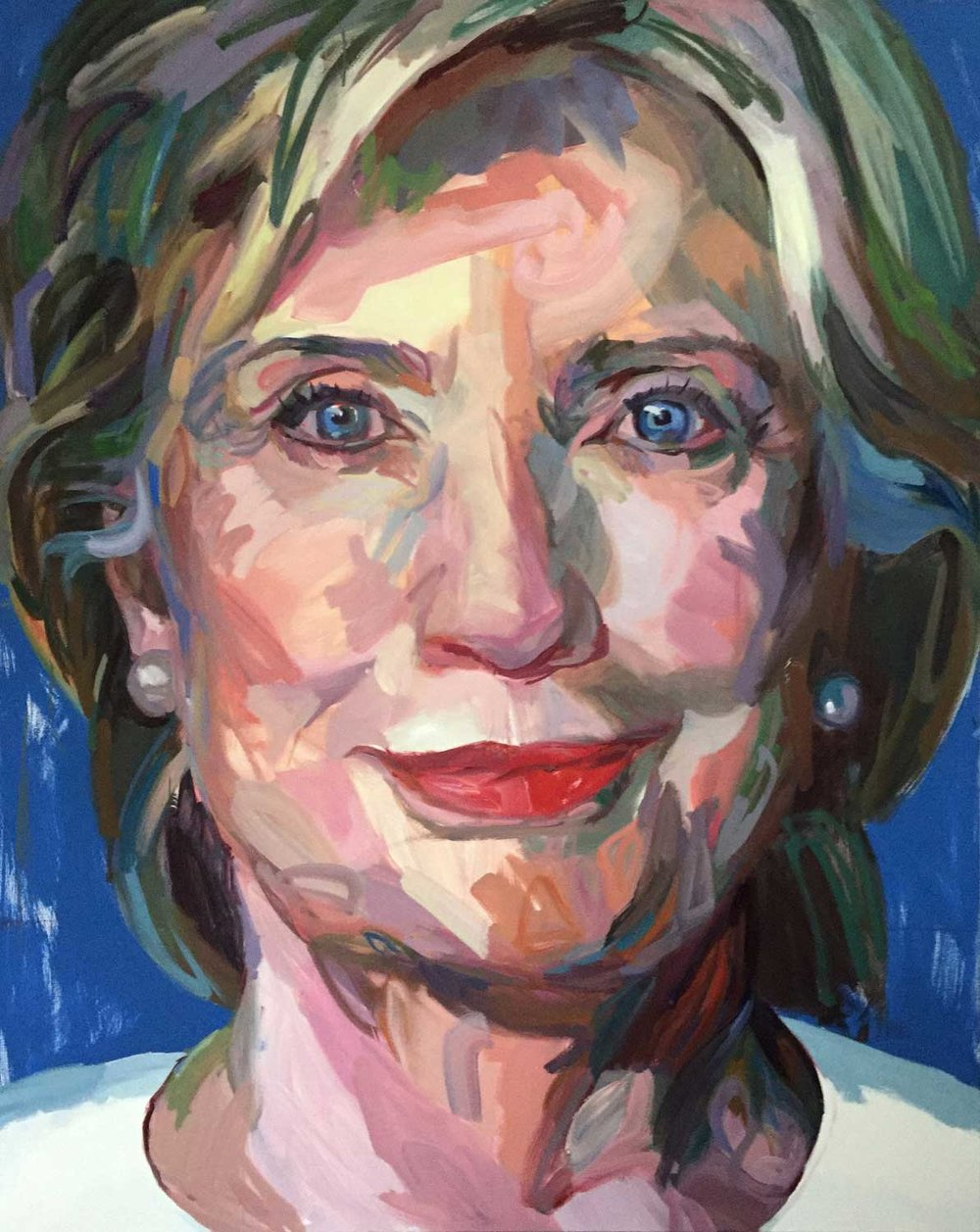 Jo Hay, Hillary 2016 Oil on canvas 48x60""