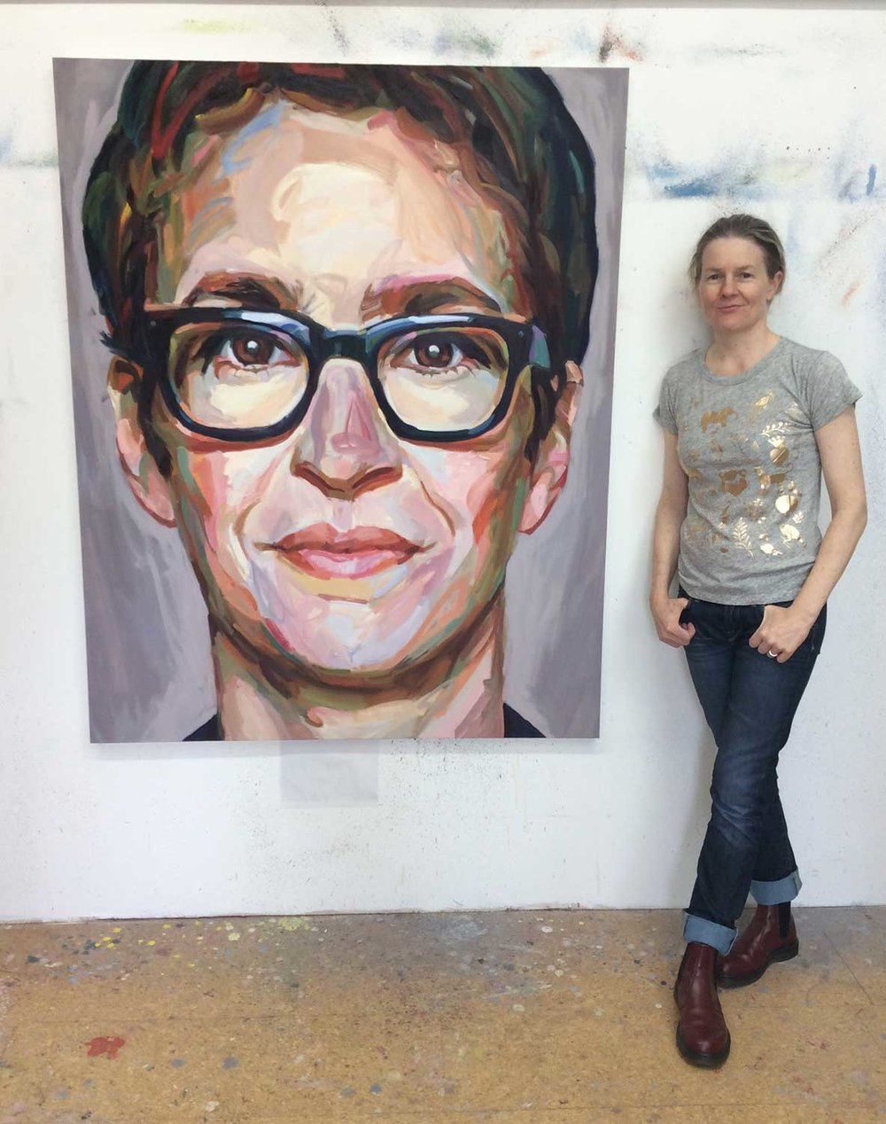 Artist Jo Hay - Maddow, 2017 Oil on canvas 48x60""