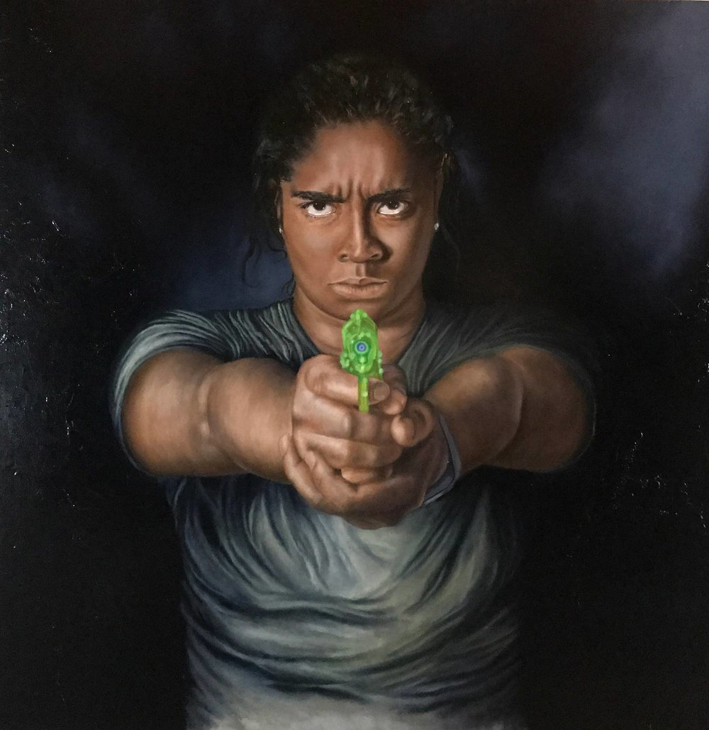 Don't Shoot It's Only Water ll, 2016 Oil on canvas 48X48""