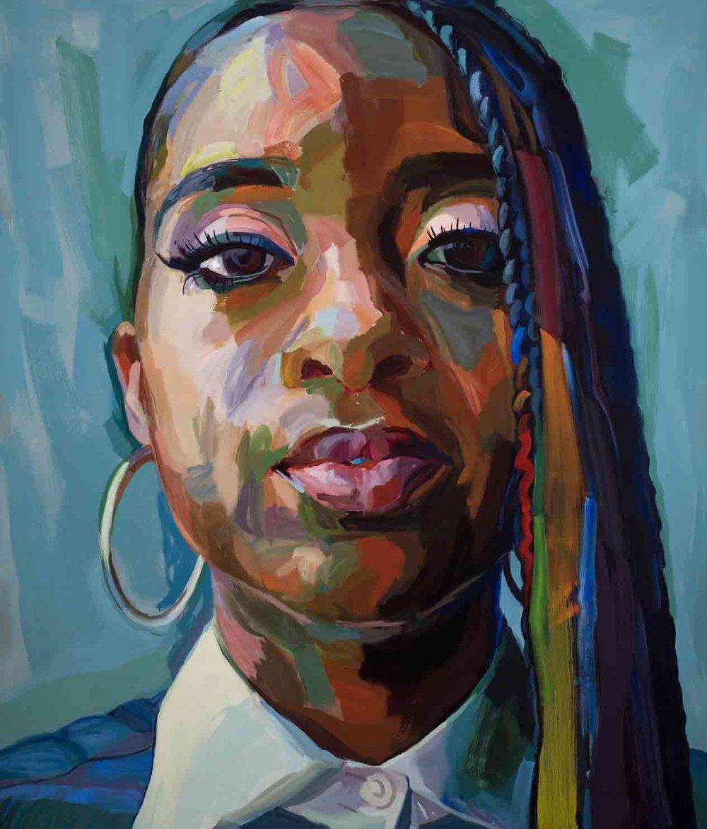"Tamika, 2018 Oil on canvas 48x60"""