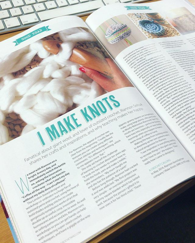 Read all about IMK in this months @simplycrochetmag 🙌🎉♥️➰ Yay! Thank you so much for the feature- definitely brightened up my VERY busy day ♥️ • • • • #imakeknots #simplycrochet #craftmagazine #crochet #moderncrochet #crochetlove #crocheting #crocheteveryday #crochetando #crochetaddict #crochetersofinstagram