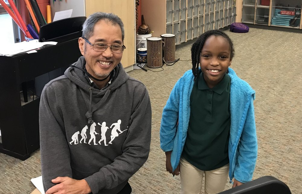 Mr. Choi (left) and Aleyah