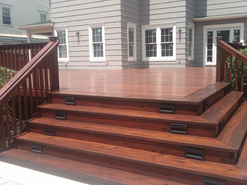 Franklin Deck Staining