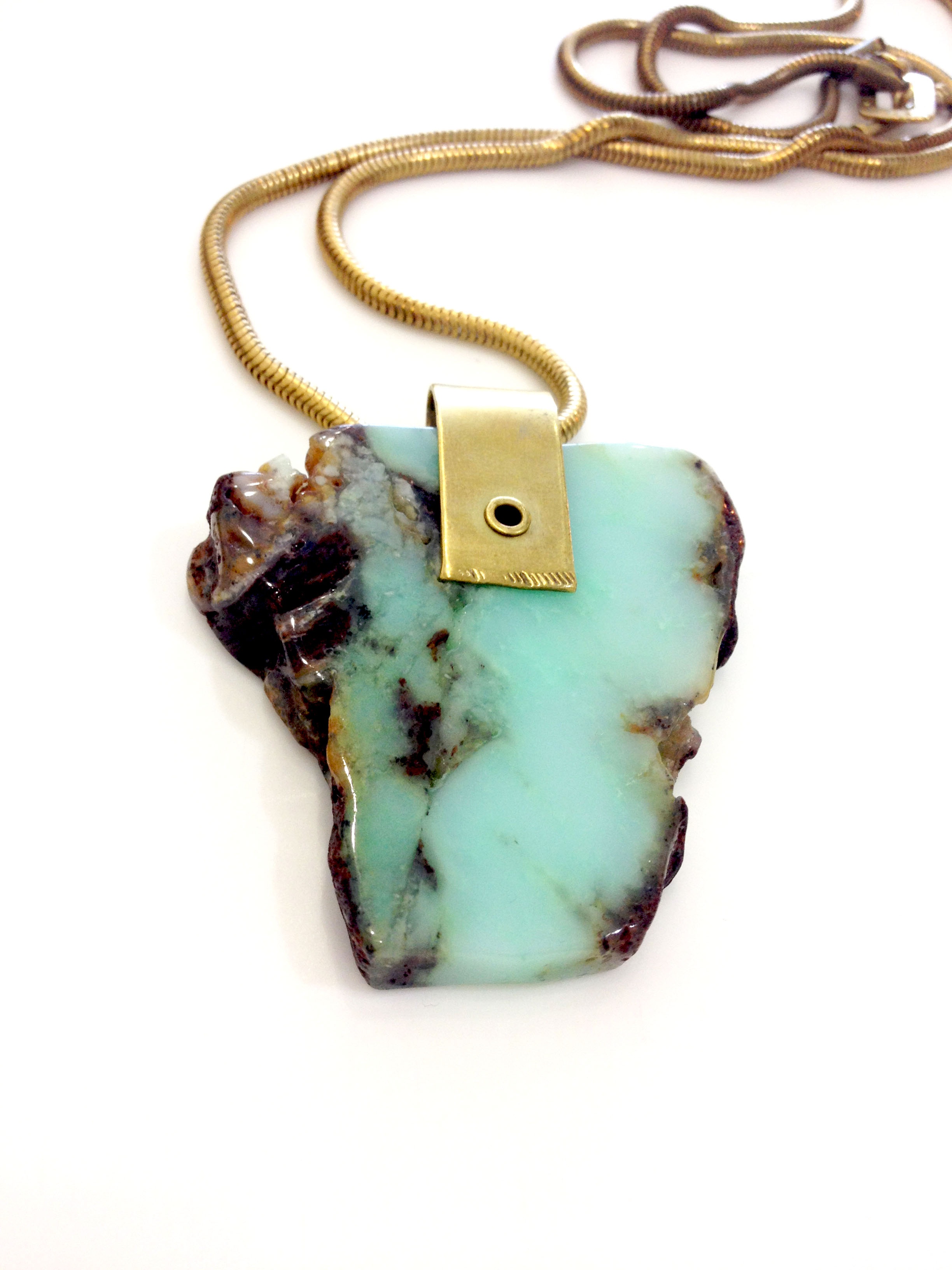 on chrysoprase natural livemaster shop necklace mermaid online jewelry with from handmade item buy stones a