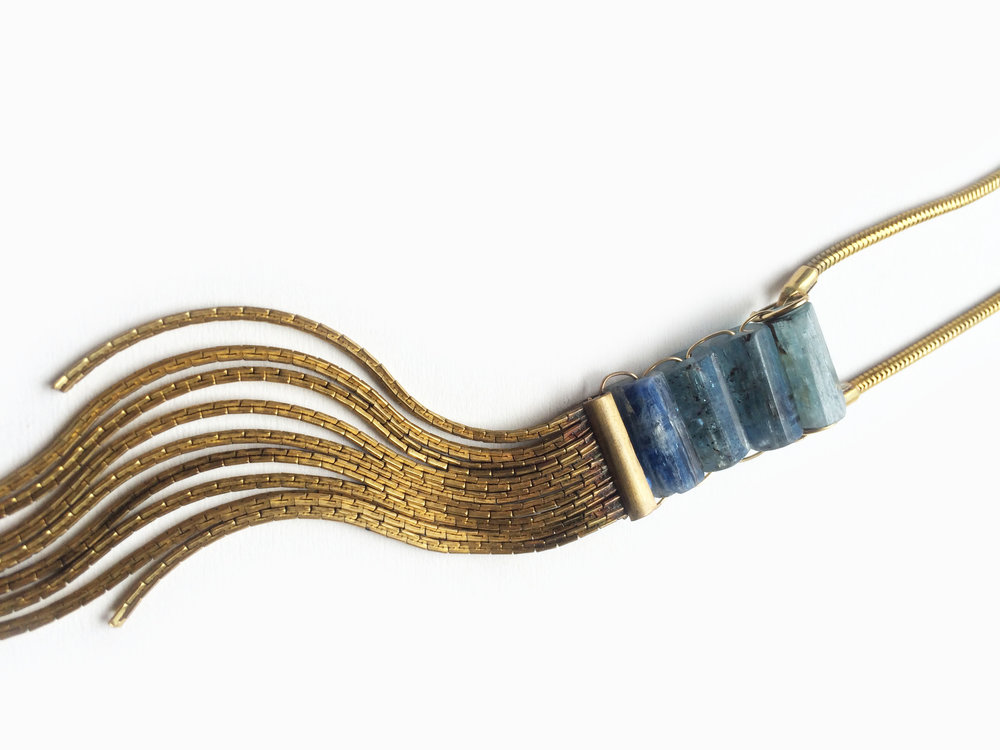 Kyanite Waterfall Necklace