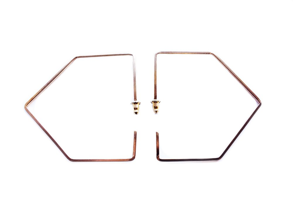 Pentagon Hoops now available in brass!