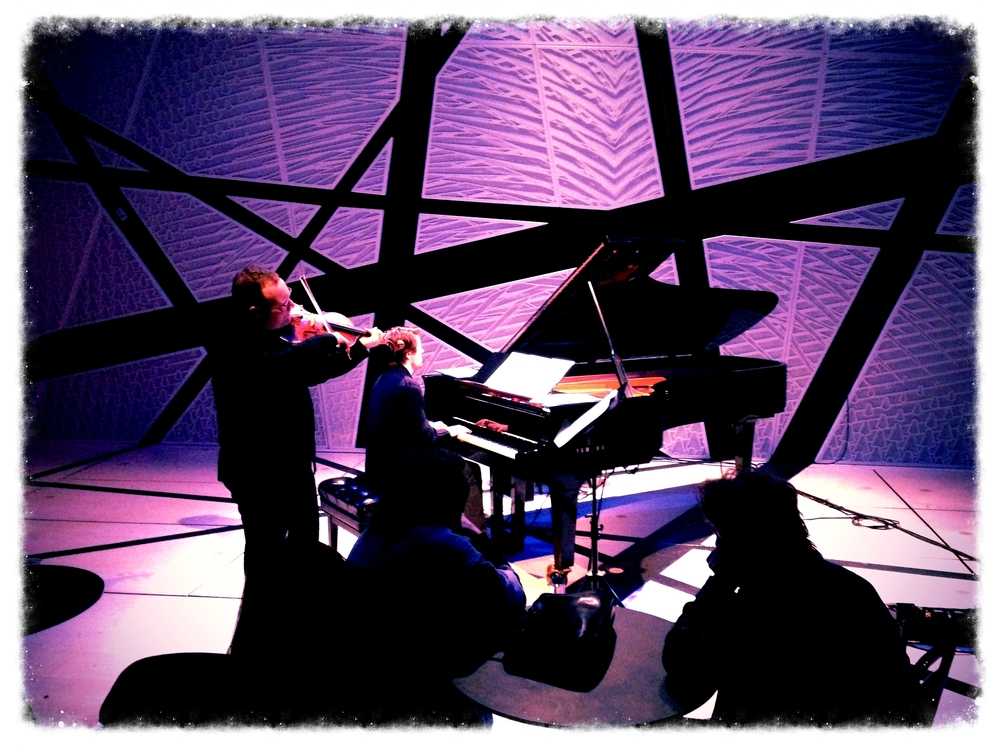 Ljova and Dan Tepfer performing at the National Sawdust