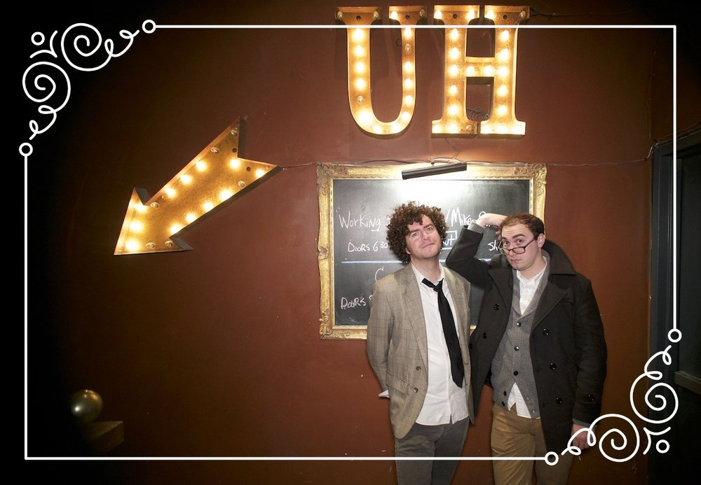 Colin O'Brien (left) and Michael Wolf at Union Hall for their show Literati. All photos by Ian Stroud.