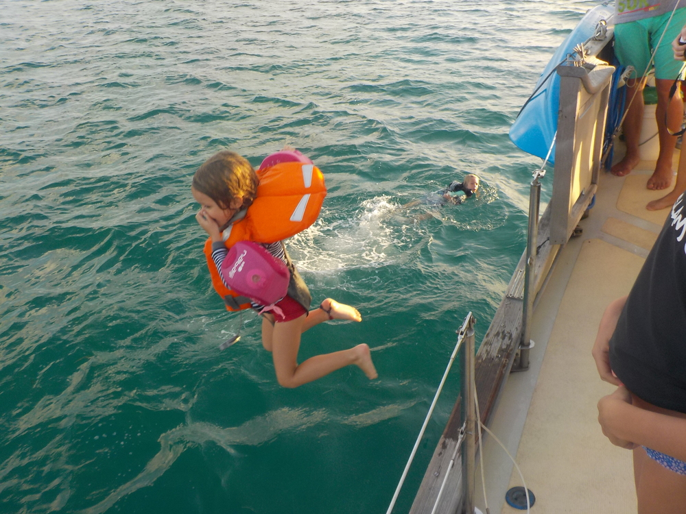 Kids are always welcome aboard Blue Sky!