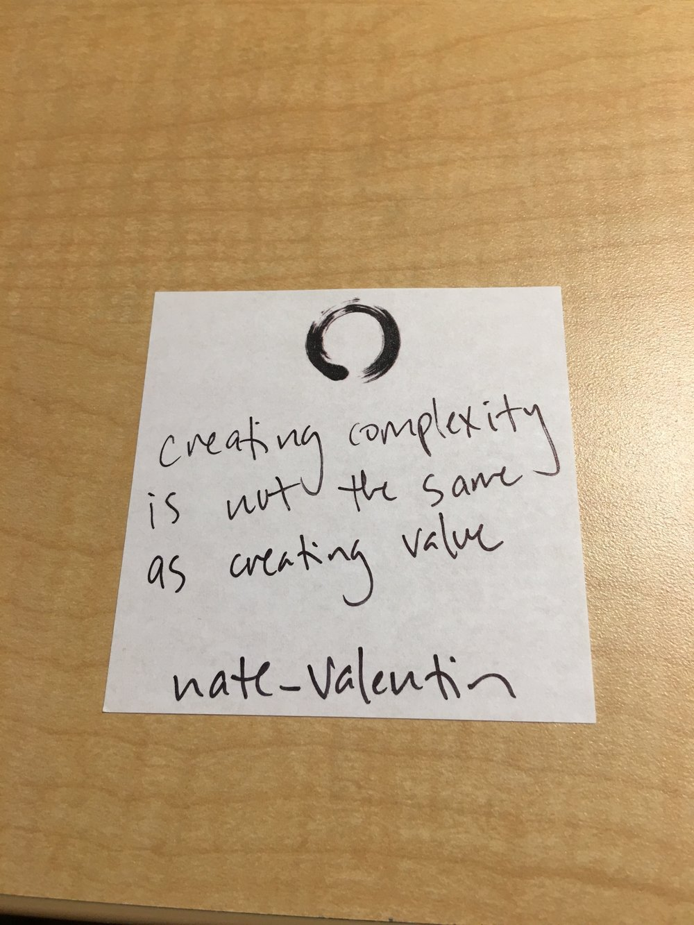 creating complexity is not the same as creating value