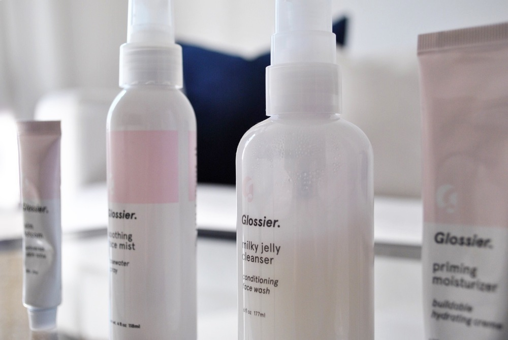 Glossier review, Glossier Balm Dotcom, Soothing Face Mist, Milky Jelly Cleanser, Priming Moisturizer