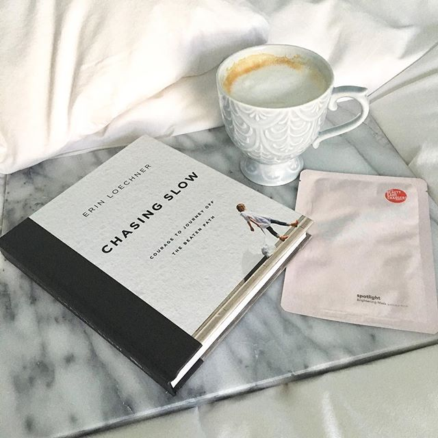 Sunday morning lineup: book, coffee, sheet mask 👍🏼#hello28