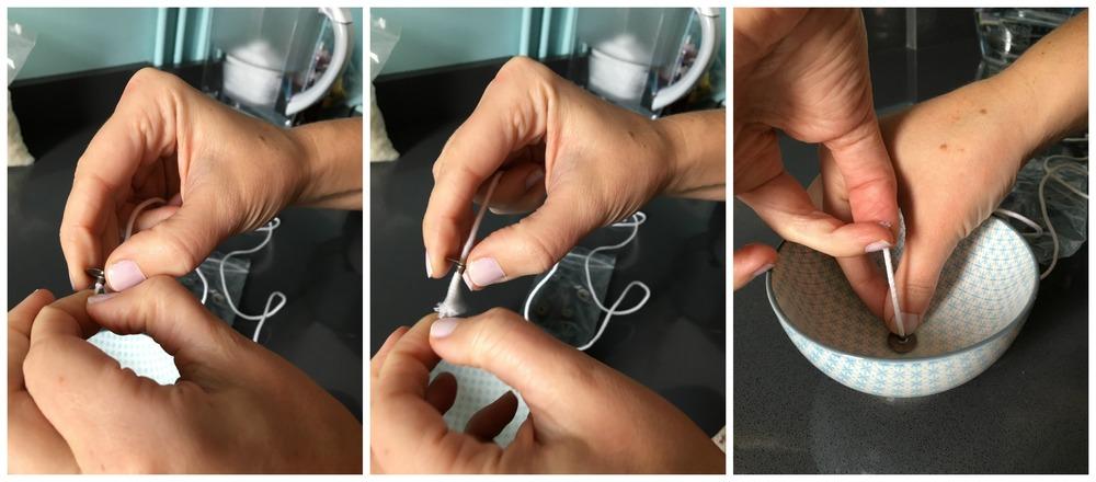 L'anneau est fourni avec une longue mèche, mesurer la longueur nécéssaire